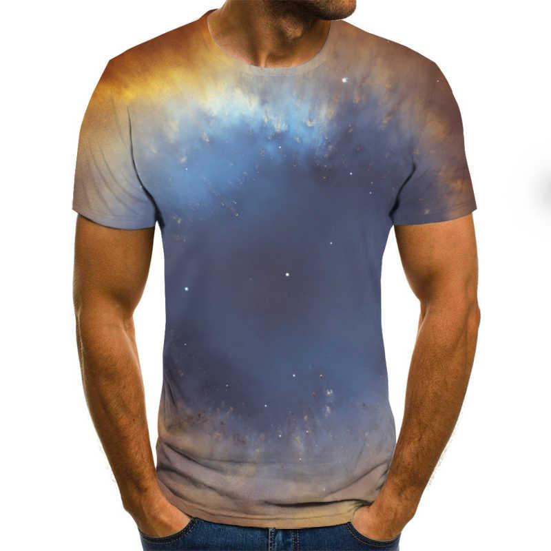 2019 Sommer Starry sky T-shirts 3d t-shirt 2019 hip hop herren kleidung china shirts chinesischen gedruckt rundhals t