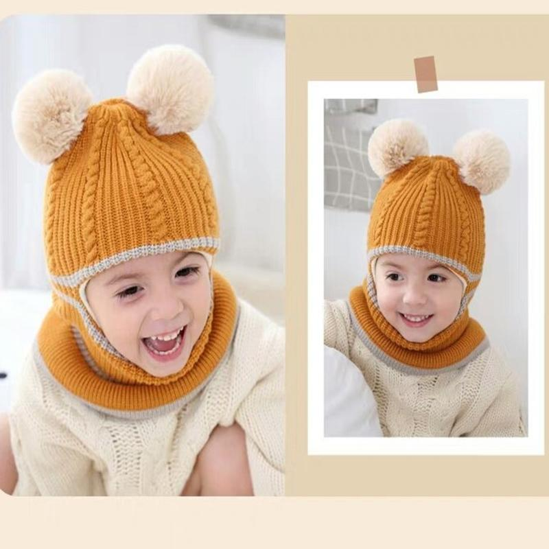 Fashion 2020 NEW Winter Warm Winter Knit Hat Crochet Ski Cap For Child Baby Kids