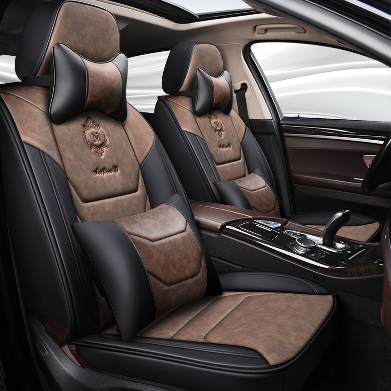 Full Coverage Eco-leather auto seats covers PU Leather Car Seat Covers for ford kuga mk2 mondeo mk3 mk4 ranger