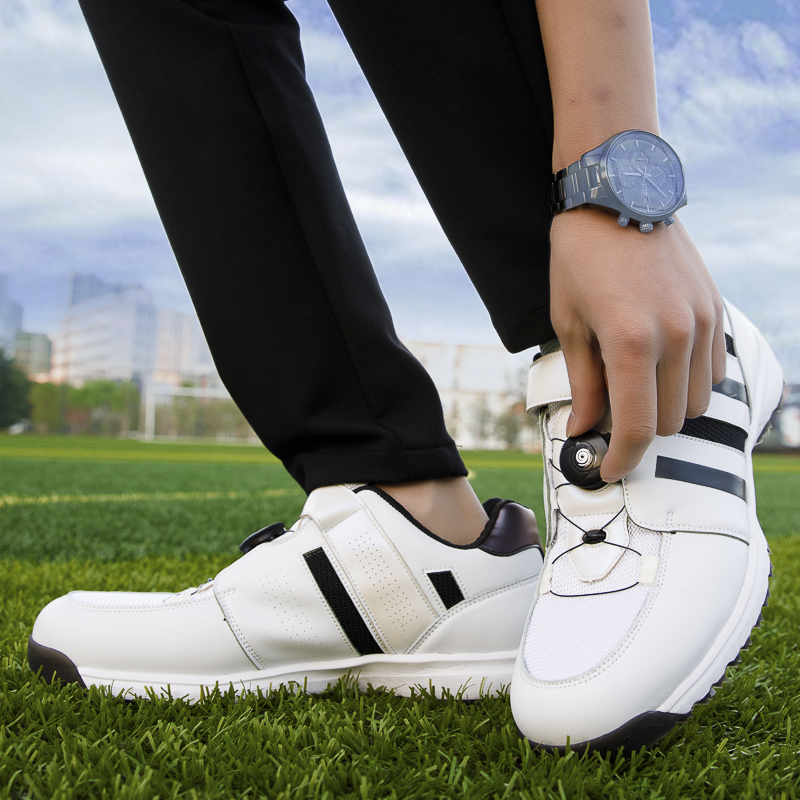 New Products Men's Professional Golf Shoes Spikes Golf Sneakers Mesh Breathable Spikes Training Track and Field Shoes Golf Shoes