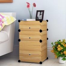 Простой сборный деревянный шкаф для прикроватной тумбы, шкаф для хранения, прикроватный шкаф для спальни, простой современный маленький шкаф