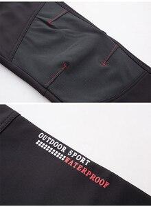 Image 5 - Tático à prova dwaterproof água caminhadas calças men respirável estiramento softshell velo forrado calças ao ar livre esporte outono inverno trekking