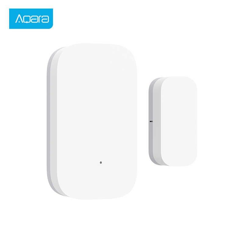 Aqara kapı pencere sensörü Zigbee kablosuz bağlantı akıllı Mini kapı pencere hırsız alarmı ile çalışmak Android IOS App kontrol ev