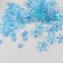 1 упаковка Рождественские Зимние металлические конфетти в форме