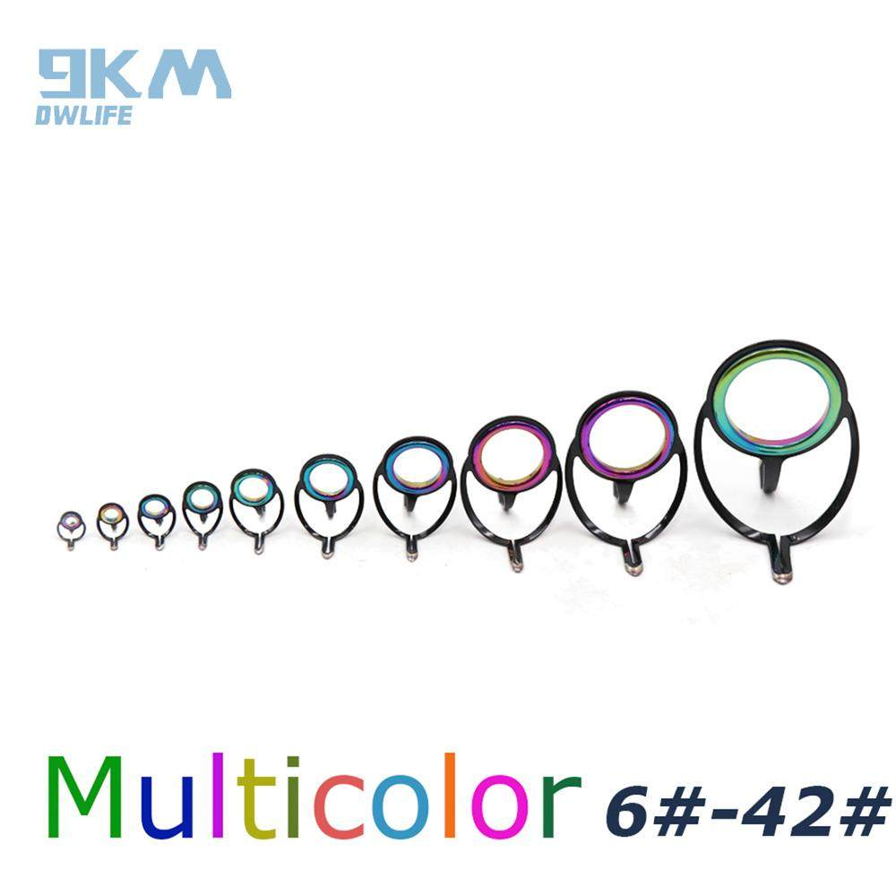 BT/_ 7Pcs Mixed Size Fishing Top Rings Rod Pole Repair Kit Line Guides Eyes Sets