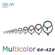 10Pcs Fishing Rod Rainbow Multicolor Repair Kit Fishing Rod Guide Pole Guide Tip Ring Stainless Steel Tip Wire Loop 1 pc dental universal diameter 10mm 12mm 14mm guide tip d2 for led curing light lamp dental fiber optic light guide tip rod