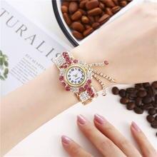 Женская Новая Модная креативная бахрома кварцевые часы браслет
