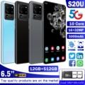 2021 новые S20U 5G LTE мобильный телефон Android MTK6889 10-ядерный процессор 12 Гб + 512 Гб Смартфон 6,7 дюймов 4800 мА/ч, Батарея мобильный телефон