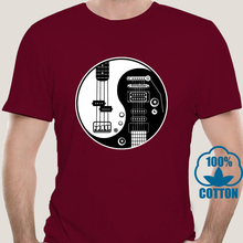T-Shirt Acoustic Guitarist Fashion Casual 7079a-Yin Strings Bass-Amp Cool Funny Pride