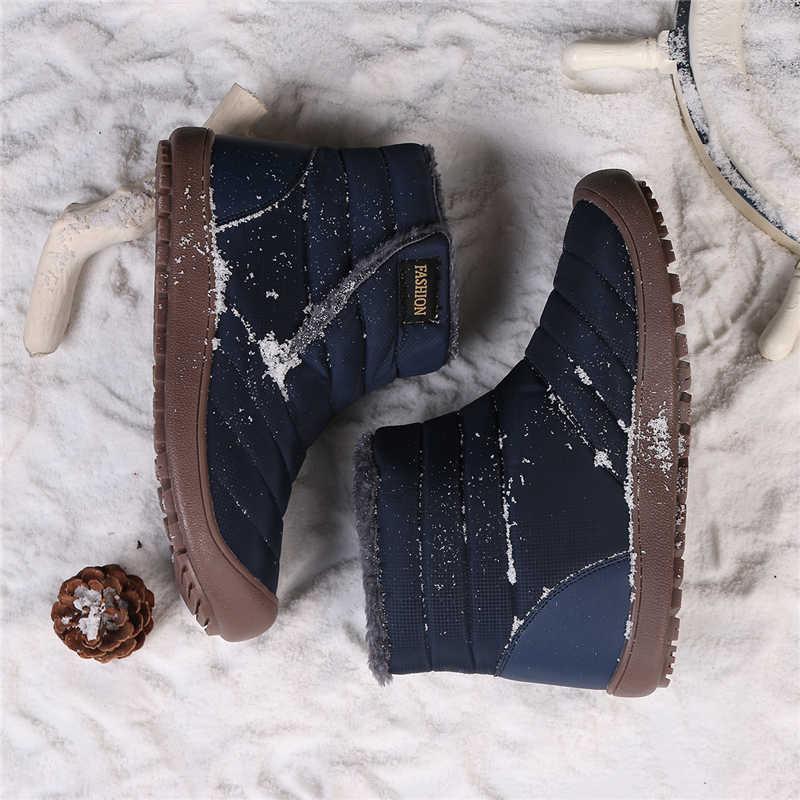 STQ 2019 Kış kadın kar botları yarım çizmeler kadınlar üzerinde kayma su geçirmez kauçuk botları sıcak kürk peluş yağmur çizmeleri kış ayakkabı 6811