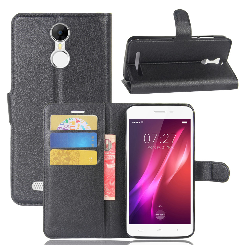 Phone Case For <font><b>Homtom</b></font> HT27 HT30 HT37 Flip PU Leather Back Cover Case For <font><b>Homtom</b></font> <font><b>HT</b></font> <font><b>27</b></font> 30 37 Wallet Smartphone Coque Funda Case image