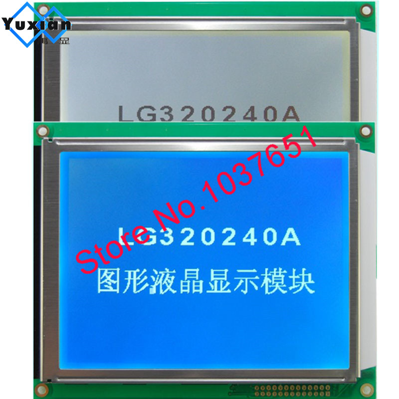 320240 lcd display panel RA8835 blue or FSTN white led  with 