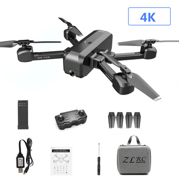SG706 4K HD Dual Camera Foldable Quadcopter Gesture Sensing Drone With Storage Bag/ Graphic Carton - Black