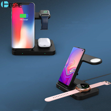 15W Wireless Charger 5 in 1 Fast Charging Station Dock for iPhone 11 Apple iWatch Airpods Pro For Samsung S20 Galaxy Watch Gear