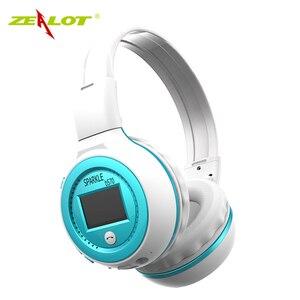 Image 3 - ZEALOT auriculares plegables B570 con Bluetooth, auriculares inalámbricos con estéreo HIFI y pantalla LCD, con Radio FM y ranura para microSD