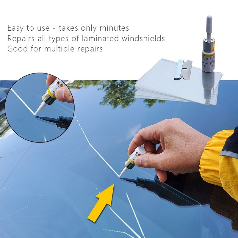 Инструмент «сделай сам» для ремонта лобового стекла автомобиля, инструменты для ремонта окон автомобиля, клей для отверждения оконных стек...