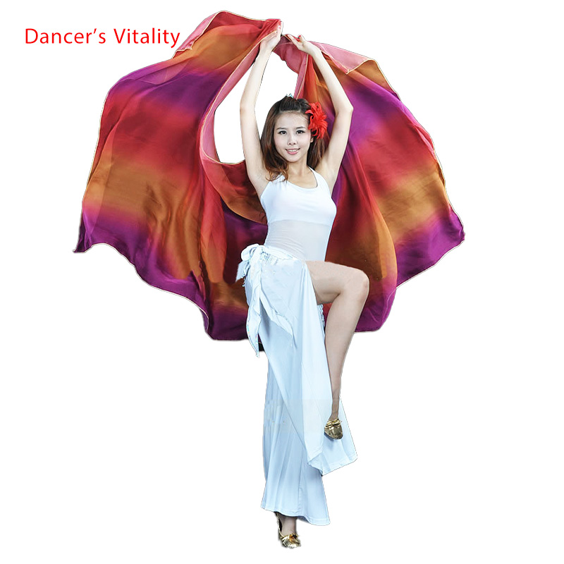 Belly Dance Veils Colorful Scarf Silk Scarf 250*120cm For Belly Dance Veils