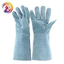 BBQ Tig Welding Glove Work Grilling Heat Resistant Oven Glove Mitt brand new 2015 ej673812 oven mitt glove