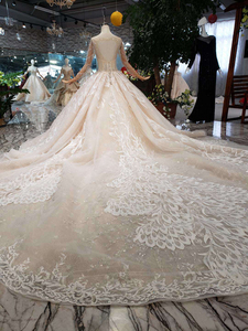 Image 2 - BGW HT566 ใหม่หรูหราแฟชั่นงานแต่งงานชุด Royal Train Handmade คุณภาพสูง Tulle พู่ชุดบอลชุดแต่งงานชุด 2020