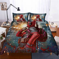 Cartoon Deadpool 3D Printed Bedding Set Quilt Bedding Set Superhero Bedding set For Children Bedding Sets