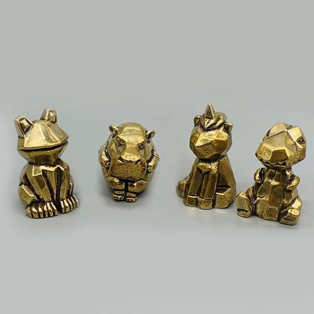 DIY sevimli hayvan mefruşat ürünleri kolye Vintage pirinç araba dinozorlar Hippo DIY aksesuarları
