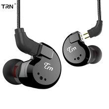 Fone de ouvido híbrido trn v80 2ba + 2dd, fone de ouvido para monitor dj, corrida e esportes, fone de ouvido com 2pin destacável v90 \ ba5 \ t3 \ st