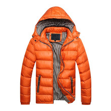Winter Men's Hooded Parka Jackets Casual Parkas Men Coats Thick Warm Coats Slim Fit Brand Male Clothing Homme цена 2017