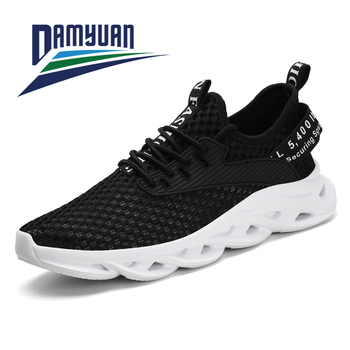 Damyuan New Fashion Sneakers Men Breathable and Comfortable Black Mesh Running Shoes 44 Thick Bottom Light Jogging Casual Shoes europe america new mesh breathable sneakers women s solid color round head shallow mouth casual thick bottom laceup single shoes
