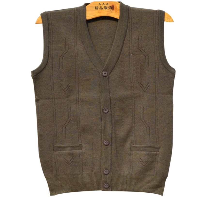 Fall winter plus sizes sweater vest mens sleeveless v neck knit jumper pullovers mens casual sweater coat with button