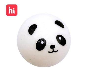 7CM Squishy Panda Bun Stress Reliever Ball Slow Rising Decompression Toys PU Key Chains Keychain Kids Toys banana style pp rubber stress reliever keychain yellow