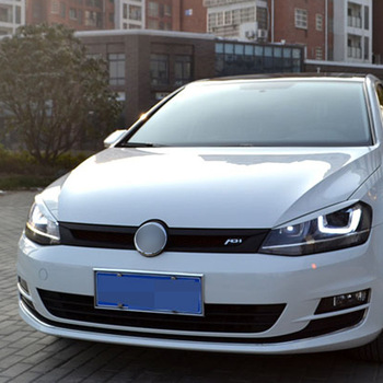 1pc Headlights Eyebrow Eyelids Trim Stickers Cover for Volkswagen VW Golf 7 MK7 GTI R Rline Accessories Car Styling New image