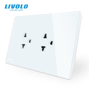 Image 3 - Livolo US AU Standard Touch Switch+US Socket, with White Crystal Glass Panel, US Touch Power Socket ,with led Indicator