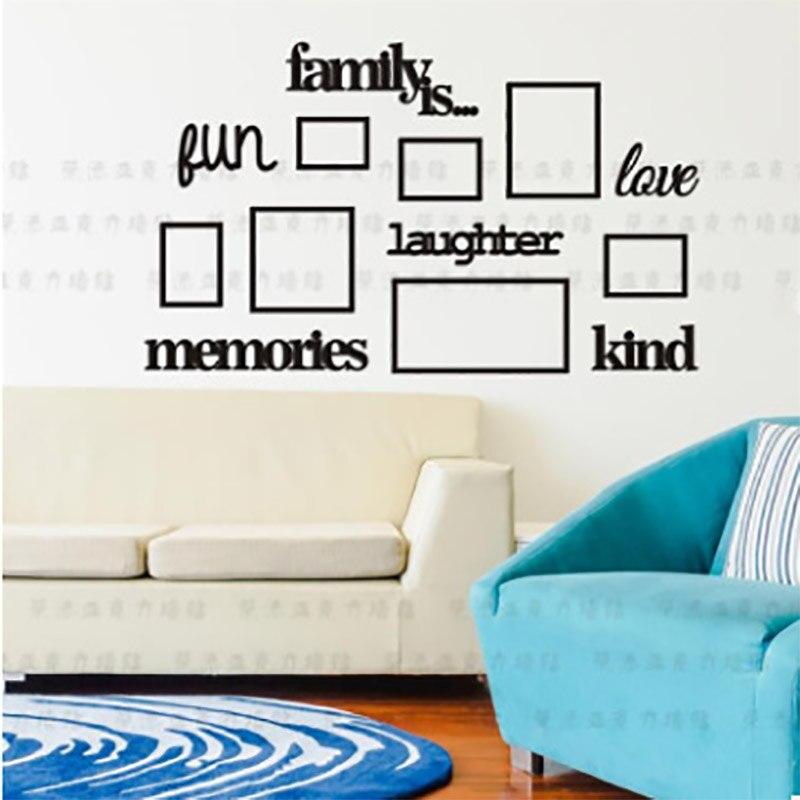 Семья дерево фоторамка акриловая 3d стерео наклейки на стену гостиная спальня наклейки на стену декоративные детские комнаты фото secur - 3