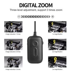 Image 4 - 5.5ミリメートル1080 1080p hd検査カメラ3Xズームワイヤレス内視鏡カメラを検査するための2MP半剛性ヘビカメラエンジン下水道