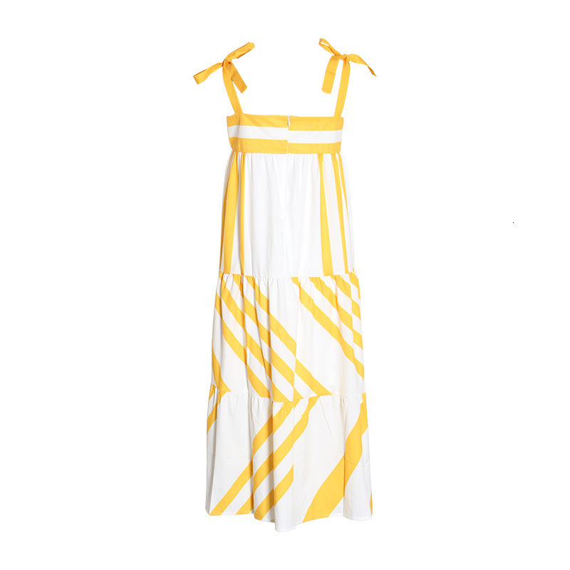 Striped Spaghetti Strap Dress
