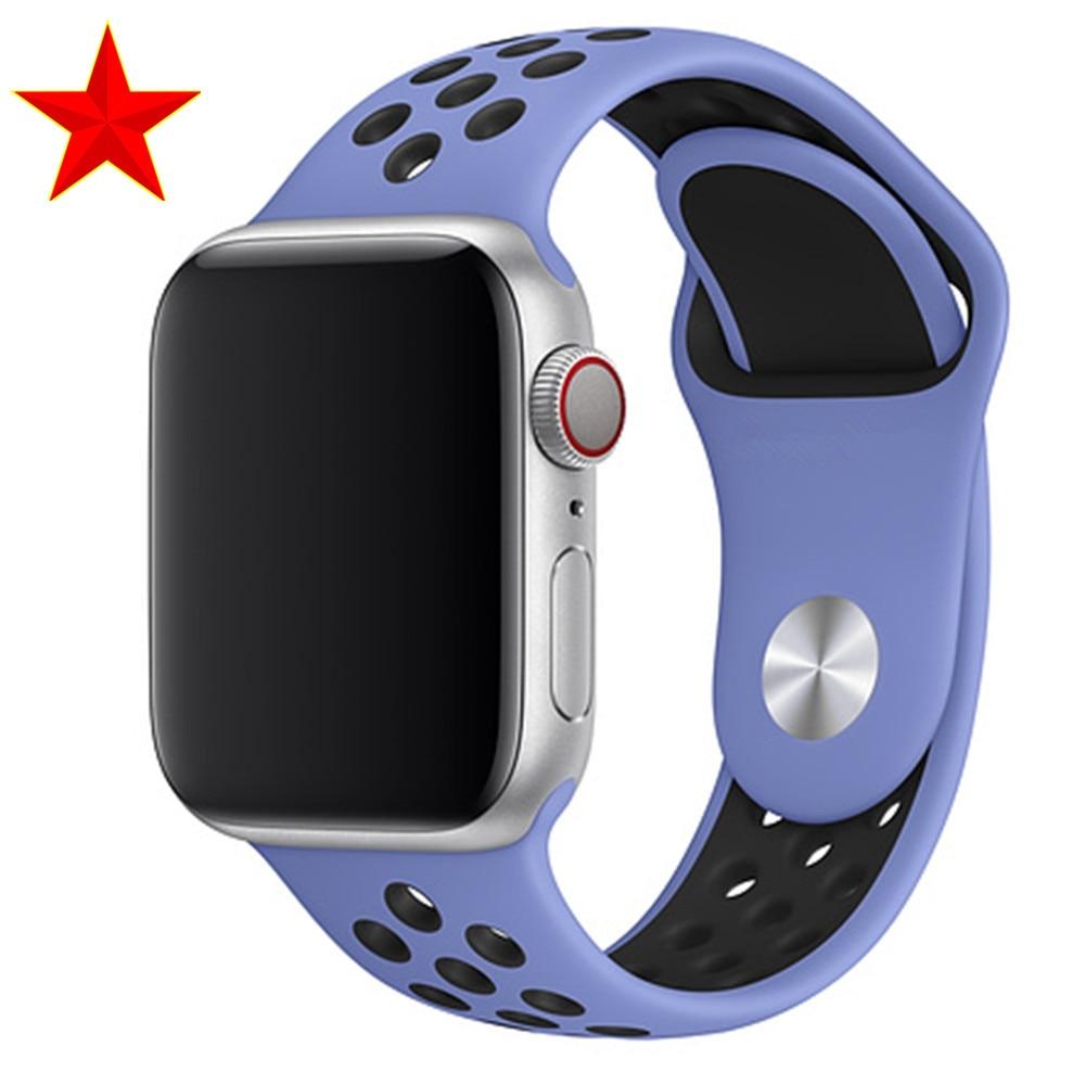 Спортивный ремешок для apple watch band 44 мм/40 мм apple watch 5 4 3 band iwatch band 5 42 мм/38 мм correa браслет ремень аксессуары для часов - Цвет ремешка: Royal Pulse Black
