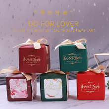 Hot stamping wine red box of exquisite gift box wedding high-grade gift box wedding party favors candy box packaging for gifts цены