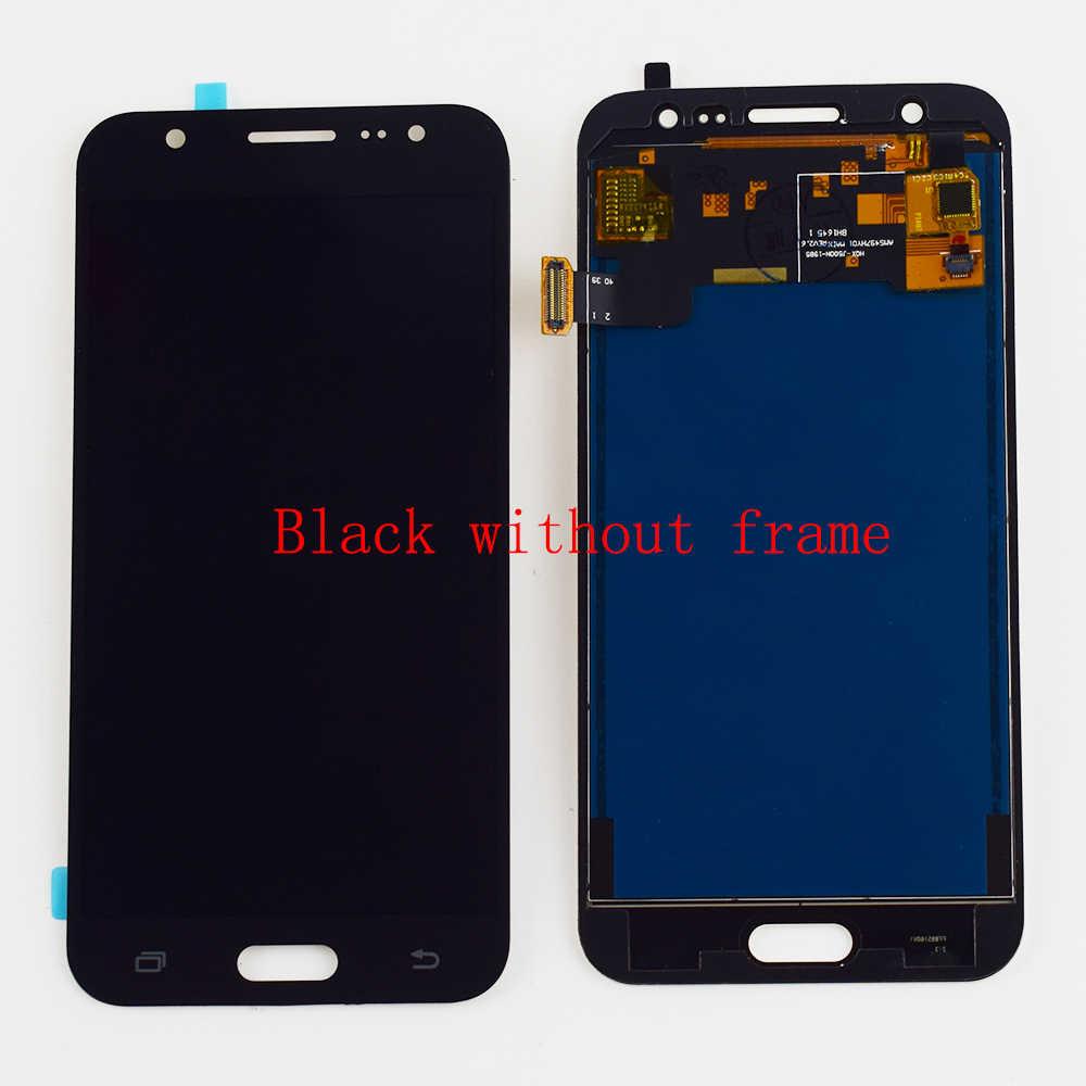 شاشات LCD لسامسونج غالاكسي J5 2015 LCD J500 J500F J500G J500M J500H J500FN شاشة الكريستال السائل مجموعة المحولات الرقمية لشاشة تعمل بلمس إطار