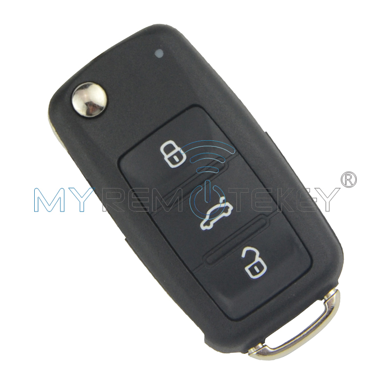 """Flip Car Remote Key 202AD"", skirtas ""VW Volkswagen Beetle Golf Eos Polo Sharan Tiguan 2011-2013"" HU66 5K0837 202 AD ID48 434Mhz Remtekey"