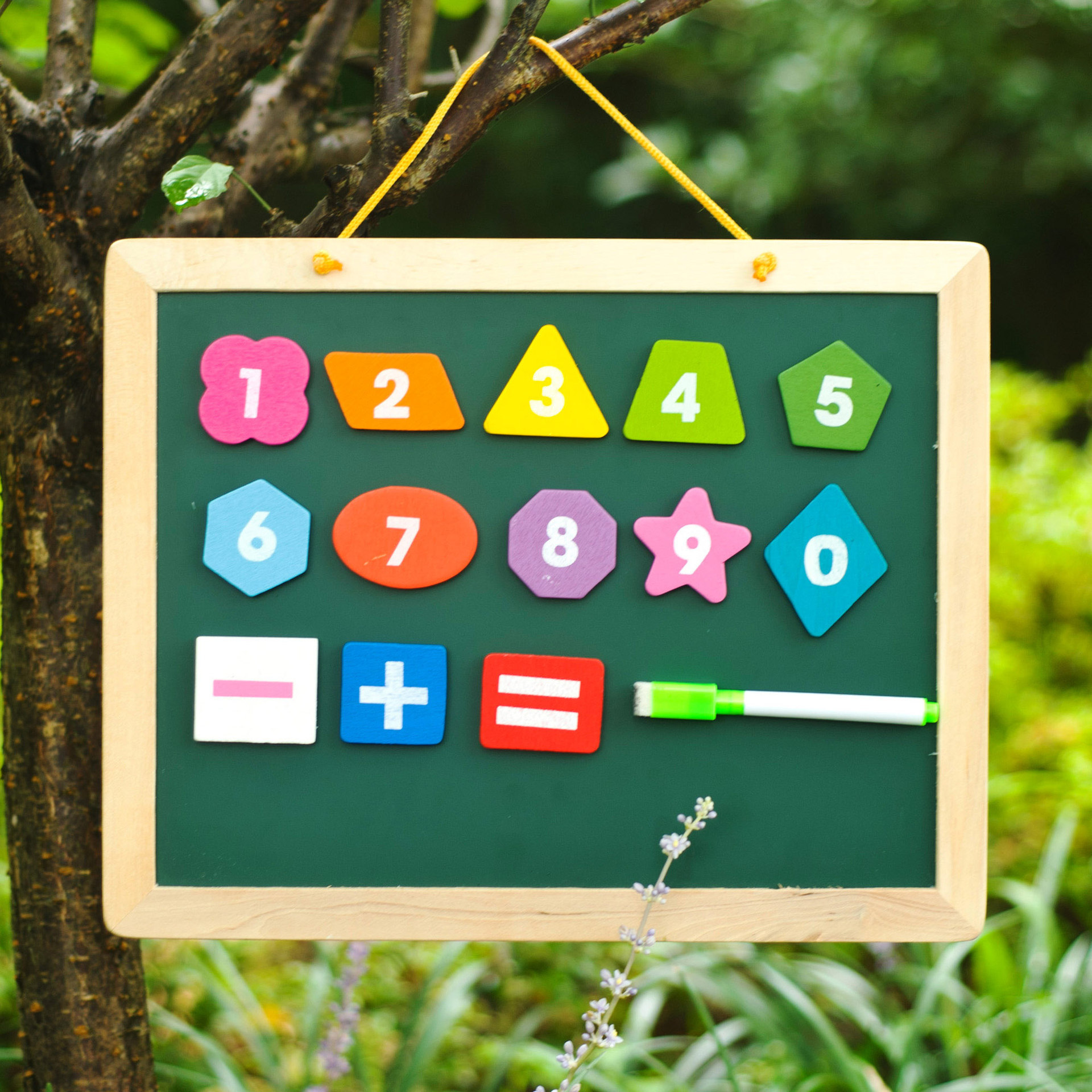 Wooden Toys Hanging WordPad Children Double-Sided Magnetic Small Blackboard Drawing Board Multi-functional-in-Drawing Board