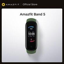 Amazfit – moniteur de fréquence cardiaque Band 5, Version globale, autonomie de la batterie 25 jours, 11 modes de Sport, suivi du sommeil, mesure de l'oxygène dans le sang, en Stock