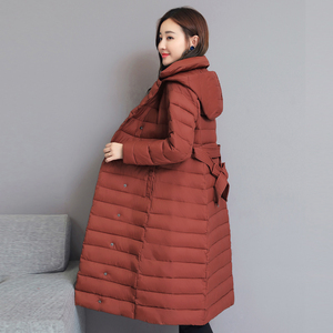 Image 5 - 2020 skręcić w dół kołnierz kurtka zimowa kobiety wyściełane piersi przyciski grube panie Casual długa Parka znosić kobiet jednokolorowy ciepły płaszcz
