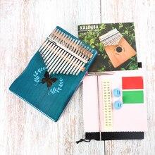 6-Styles Beginner-Instruments Kalimba Mahogany Thumb-Piano Keyboard Musical 17-Keys-Pattern