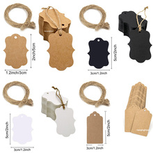 Blank-Label Stationery-Tags Crafts Kraft-Paper with Jute-Twine for Price DIY Handmade