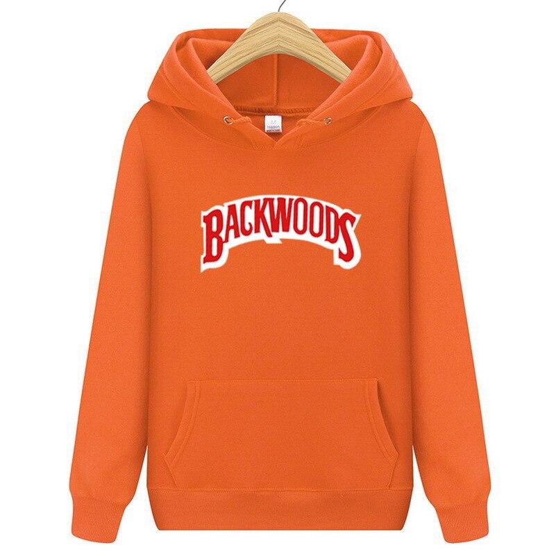 Fashion Brand Men Women Hoodie Backwoods Print Men Hip Hop Hooded Solid Fit Casual Sweatshirt Spring Autumn Hooded Plus Size