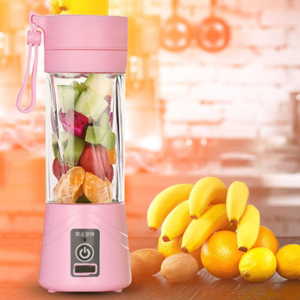 380ml 6/4/2 Blades USB Rechargeable Blender Mixer Portable Baby Kids Feeding Vegetable Fruit Smoothie Squeezers Food Processor