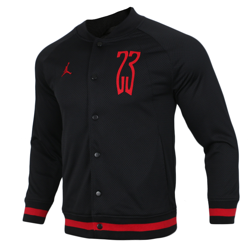 Original Nike JORDAN SHOT MESH BOMBER Mens Black Discount Coats Cloth High Quality