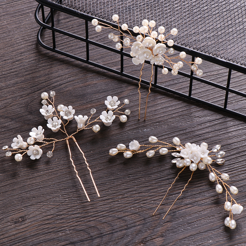 Шпилька для волос с жемчужиной, зажим для волос для женщин, роскошные хрустальные стразы, свадебные шпильки для волос, золотистые шпильки для волос, аксессуары для невесты и подружки невесты