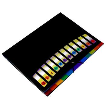 Kolorowe rozszerzenie pliku kieszenie na dokumenty pudełko 12 Folder wielofunkcyjny papier biurowy Organizer 23x31cm UY8 tanie i dobre opinie CN (pochodzenie) 23 x 31cm