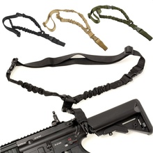 Durable Military Tactical Rope Sling Single Point Bungee Rifle Strap Shooting Hunting Accessories Paintball